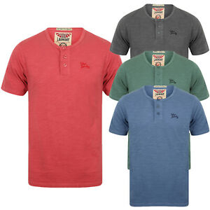 Mens-Tokyo-Laundry-Barry-T-Shirt-Short-Sleeved-Cotton-Jersey-Grandad-Neck-Top