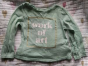 Girls' Clothing (newborn-5t) 18-24mo Old Navy Work Of Art Long Sleeve Top Shirt Girls 12-18m 12m Toddler Baby Removing Obstruction