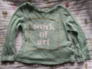 18-24mo Old Navy Work Of Art Long Sleeve Top Shirt Girls 12-18m 12m Toddler Baby Removing Obstruction Tops & T-shirts Baby & Toddler Clothing