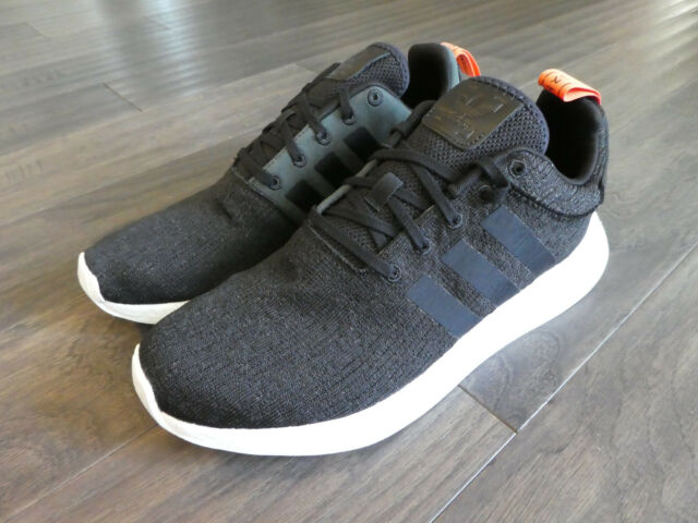 a6ebbdd0b Adidas NMD_R2 Boost shoes sneakers new black CG3384 Men's Harvest Orange