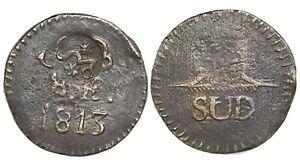 Oaxaca-Morelos-SUD-Mexico-copper-8-reales-1813-plain-fields-with-Morelos-cmk