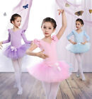 Girls Tutu Ballet Leotard Dance Dress Kids Ballerina Fairy Dancewear Costume