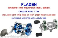 Fladen Warbird Multiplier Reel Series For Sea Fishing Beachcaster Rod Baitcaster