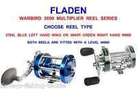 Fladen Warbird Multiplier Reel Series For Sea Fishing Beachcaster Rod Baitcaster