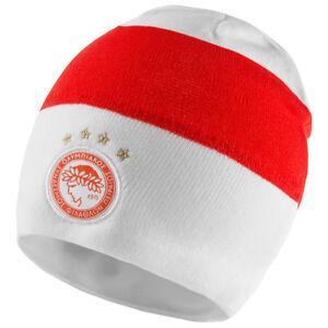 Details zu Olympiakos Piräus adidas Beanie Fußball Fan Winter Mütze rot weiß AI6446 neu