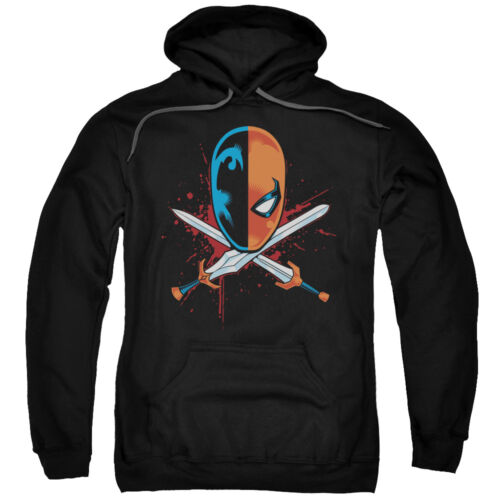Deathstroke Mask CROSSED SWORDS Licensed Adult Sweatshirt Hoodie