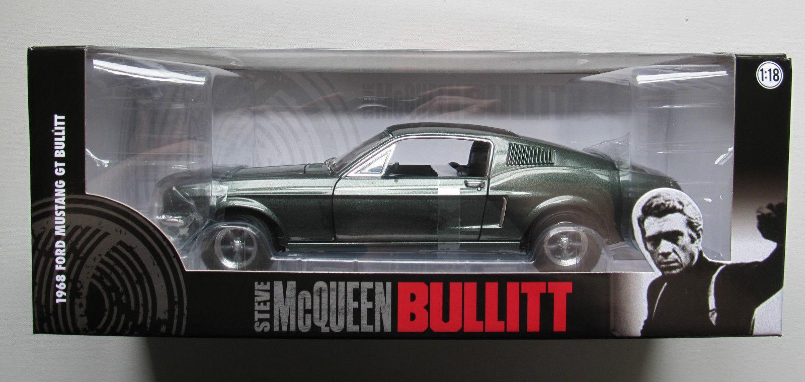 1 18 vertlumière  1968 Ford Mustang Steve McQueen Bullitt  marques en ligne pas cher vente