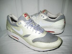 Details about Nike Air Max 1 Fuse 543213 016 Metallic Silver White University Red Size 10.5