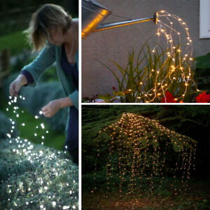 Solar-Battery-Led-Lights-Waterfall-String-Fairy-icicle-Light-Home-Decoration