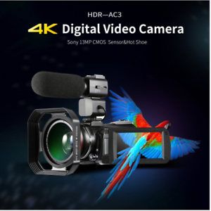 Details about 4K Camcorder, ORDRO AC3 Ultra HD Video Camera 1080P 60FPS  WiFi Camera and IR IPS