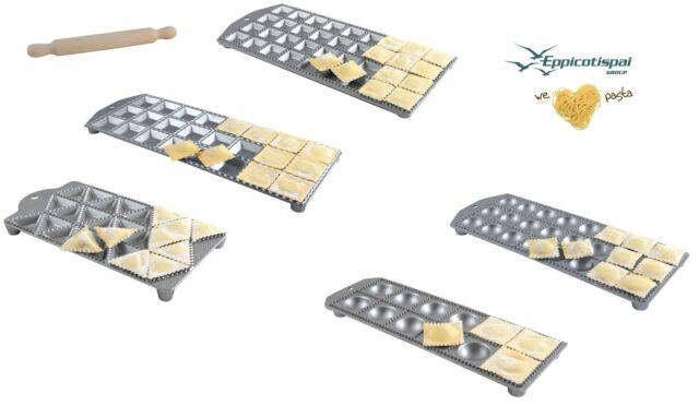 Stuffed Pasta Stamp Cutter Mould Marcato Ravioli Maker Tray 10 Square pcs 5cm