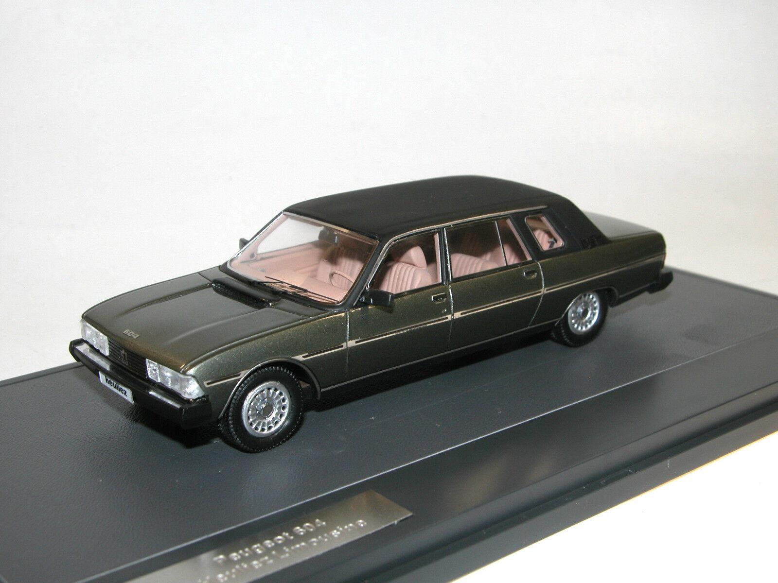 MATRIX SCALE MODELS 1980 PEUGEOT 604 heulie Limousine vert Limited 1 43