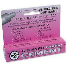 1 x G-S Hypo Fabric Cement Glue 9ml Jewellery and Craft , Fabric Adhesive SB49