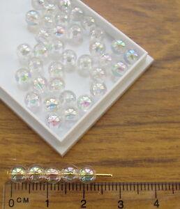 250-transparent-small-round-5mm-AB-plastic-beads-iridescent-rainbow-finish