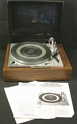 Vintage FISHER 501 / Perpetuum Ebner 2020 Automatic Manual Turntable