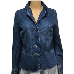 Women-s-Sonoma-denim-jacket-size-small-blue-color-Button-Down