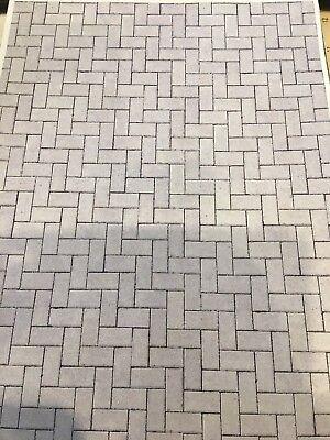 1/10 1/12 Casa Delle Bambole Grigio Chiaro Blocco Pavimentazione (5 Fogli) 0096-mostra Il Titolo Originale Una Gamma Completa Di Specifiche