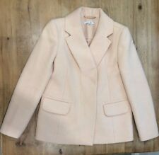 CARVEN Blush Light Pink Jacket Coat Structured Boxy Cashmere Wool 38-UK8-US4MINT