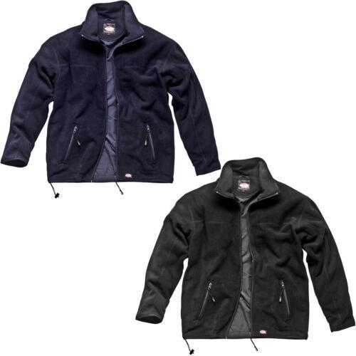 MENS DICKIES MICROFLEECE JACKET COAT SIZE S XXL LINED BLACK NAVY BLUE JW84400