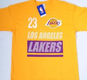 finest selection e7f24 8c365 Details about *New Lakers LeBron James Fanatics Branded Gold Shirt Youth XL  #23 NBA