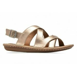 22c4c2aa0da6 Image is loading Clarks-Tustin-Spears-Metallic-Leather-Women-Sandals-Size-