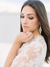 Bridal Vintage Chandelier Simulated Pearl Earrings with Crystal by Swarovski