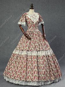 Victorian Dickens Tartan Little House Prairie Pioneer Woman Theater Dress 160