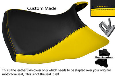 YELLOW & BLACK CUSTOM FITS BMW R 1200 GS FRONT RIDER  04-12 LOW SEAT COVER