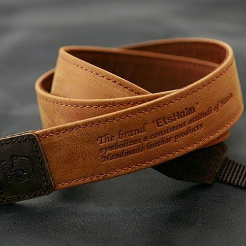 Vintage-30 Tan SLR Camera Neck Shoulder Leather Strap for Leica Fuji Samsung i