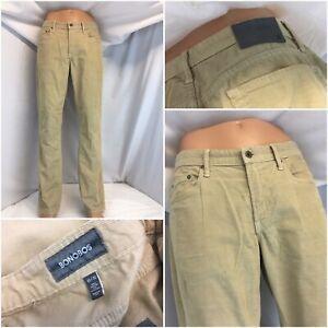 Bonobos-Pants-32x32-Tan-Cord-Cotton-Lycra-Flat-Front-Made-USA-YGI-C9-367