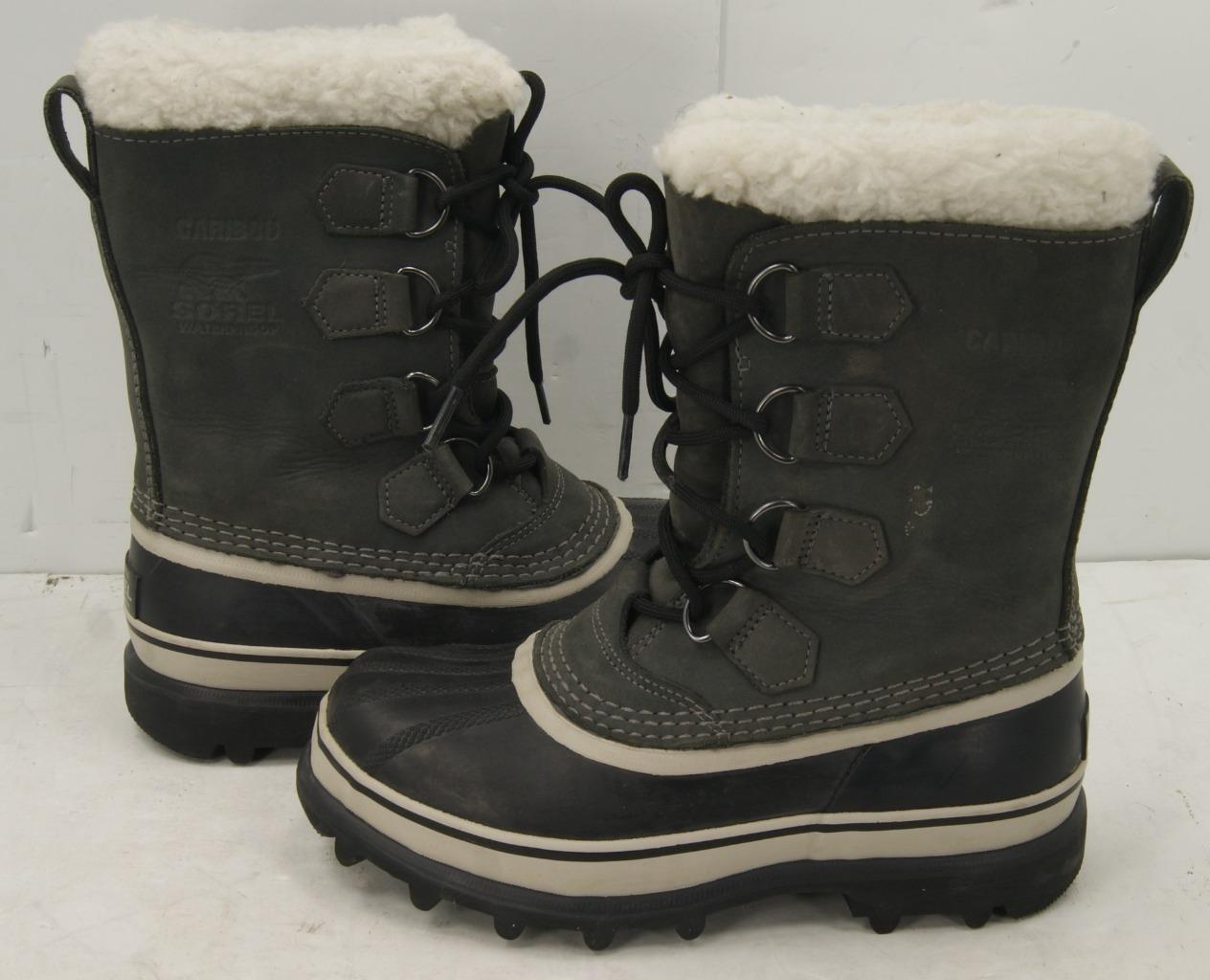 punto vendita Sorel  Caribou Leather  Rubber Rubber Rubber Winter Snow stivali Donna  6  vendita con alto sconto
