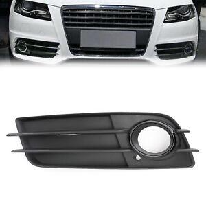 Left Side Matte Black Fog Light Grill S-Line Bumper For AUDI A4 B8 2008-2012