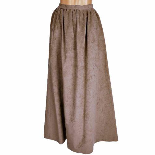 Vintage 1970s Halston Ultrasuede Taupe Maxi Skirt - image 1