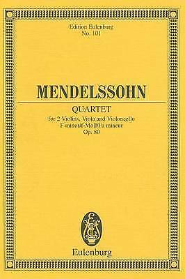 String Quartet in F Minor, Op. 80: Study Score by Eulenburg (Paperback /...