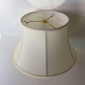 14 Eggshell Shallow Bell Lamp Shade Shantung Silk Tailor Made Lampshades Ebay