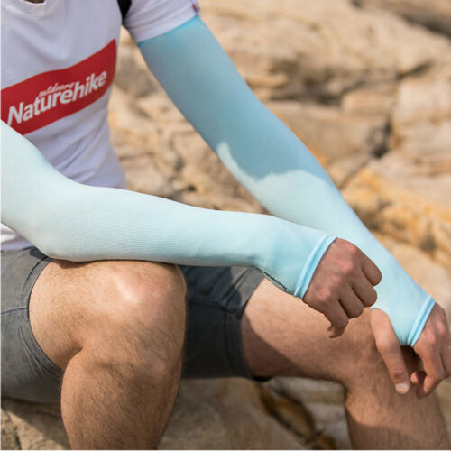 Men Women Cycling UPF50 UV Sun Protect Sport Arm Warmer Cuff Sleeve Cover Skin