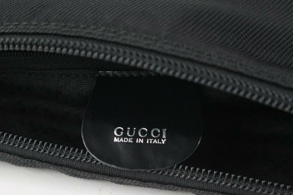 Gucci Black Nylon Bamboo Zip Hobo 913gk25 - image 5