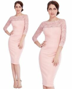 Goddess-Nude-Scalloped-Lace-Fitted-Marcella-Cocktail-Evening-Party-Dress
