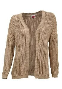check out 36dc6 0898a Details zu Travel Couture Cardigan Gr.34-44 NEU Damen Strickjacke  Beige/Gold Pullover Grob
