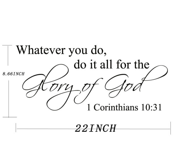 Bible Verse Wall Decals Word Vinyl Removable Sticker Quote