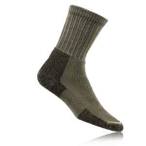 Thorlo Mens Gents Grey Thick Hiking Walking Outdoors Sports Warm Crew Socks
