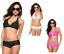 LA-TUA-MODA-Bikini-alta-qualita-donna-triangolo-fiori-hippie-culotte-strass-DD miniature 1