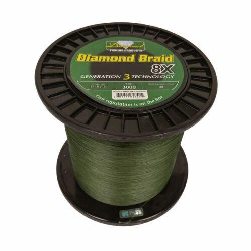 300 yards Momoi Diamond Braid Generation III Fishing Line 8X 80lb Green