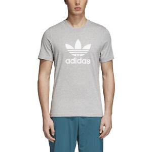 Details about Adidas Originals Men's Trefoil Tee Grey Heather White cy4574