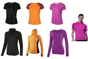 Damen Funktionsshirt Laufshirt Joggingshirt Sportshirt kurzarm langarm T-Shirt