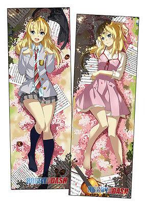 New Kaori Miyazono Anime Dakimakura Japanese Hugging Body Pillow Cover H09875