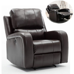 Electric-Power-Air-Leather-Recliner-Chair-Large-Padded-Armchair-with-USB-Port