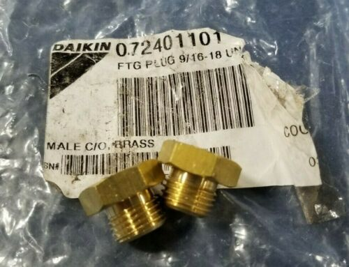 Qty 2 Daikin McQuay 072401101 Male Cleanout 9//16-18 UNF 2A Replaces 724011A-01