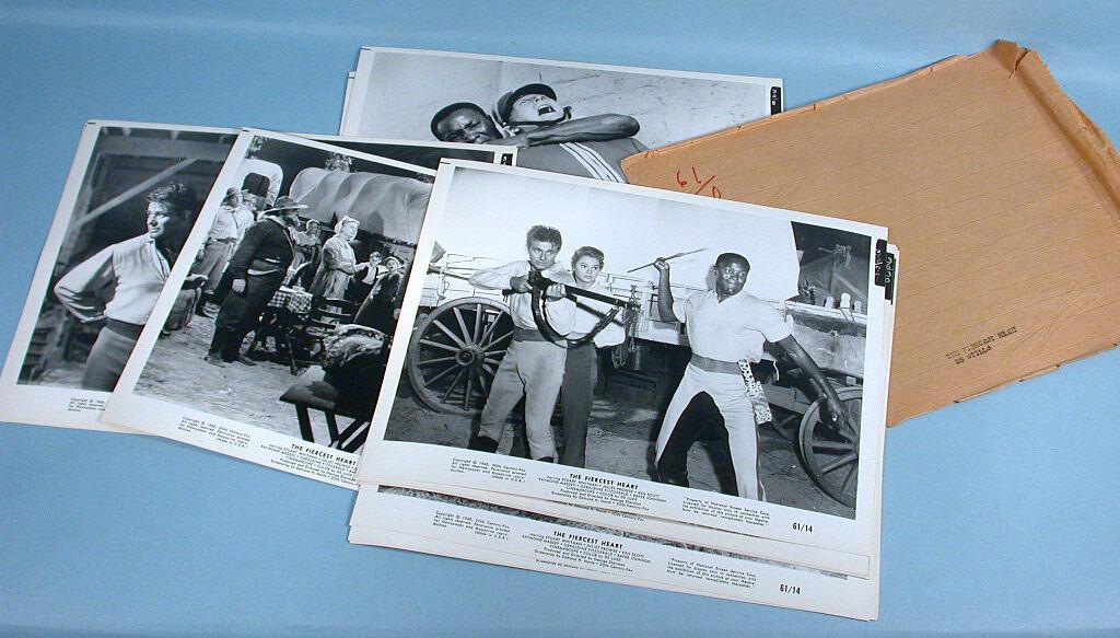 72 Original 1961 Western Cowboy Movie Stills Fiercest Heart Long Rope Hellions