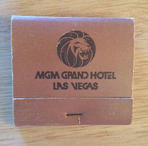 MATCHBOOK - MGM GRAND HOTEL & CASINO - Las Vegas, NV (1433 - 1439)